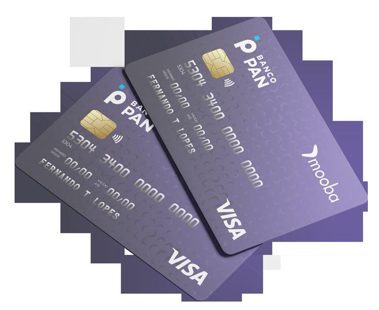 2 via cartão de crédito Mooba Visa